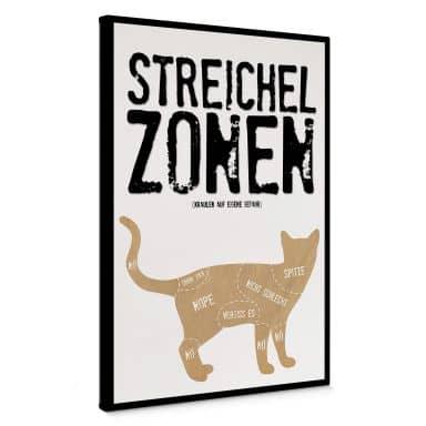 Leinwandbild Streichelzonen - Katze
