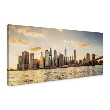 Tableau sur toile Coucher de soleil à Manhattan
