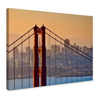 Canvas Zonsondergang in San Francisco