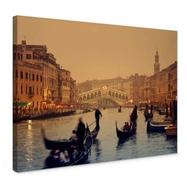 Canvas Zonsondergang in Venetie