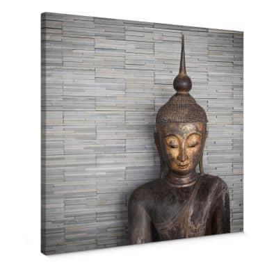 Leinwandbild Thailand Buddha - quadratisch
