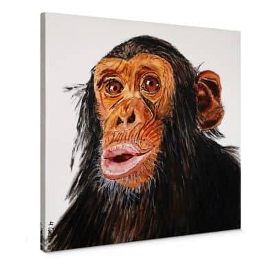 Leinwandbild Toetzke - Affenporträt - quadratisch