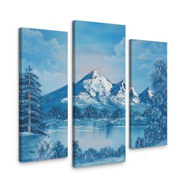 Tableau sur toile Toetzke - Lac dans les montagnes (3 parties)