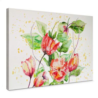 Leinwandbild Toetzke - Gartenblumen