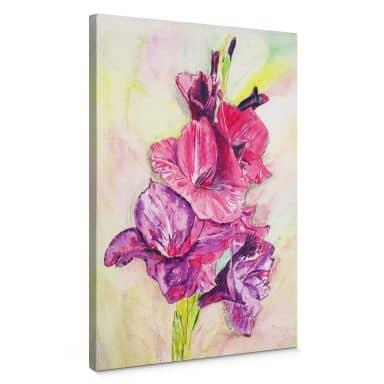 Leinwandbild Toetzke - Gladiolen Bouquet in Violett
