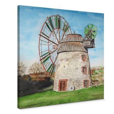 Leinwandbild Toetzke - Holländerwindmühle - quadratisch