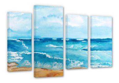 Tableau sur toile Toetzke - Bruit de la mer (4 parties)