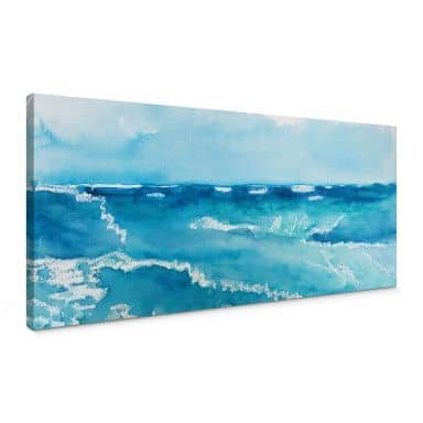 Toetzke - Sound of the Ocean - Panorama 02 Canvas print
