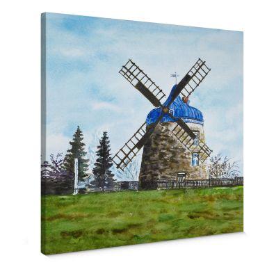 Leinwandbild Toetzke - Traditionelle Windmühle -quadratisch