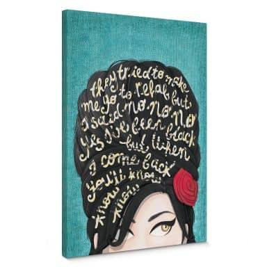 Leinwandbild Tohmé - Amy Winehouse: Rehab