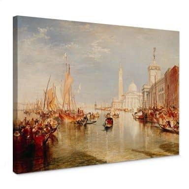 Leinwandbild Turner - Venedig, Dogana und S. Giorgio Maggiore
