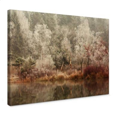 Canvas van Dongen - Frosted Forest