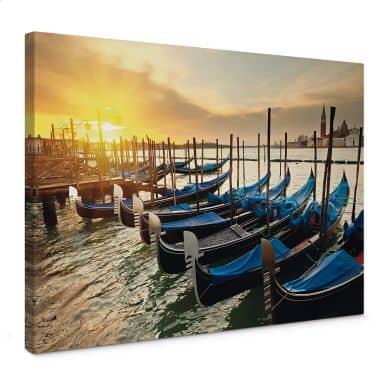 Leinwandbild Venezianische Gondeln