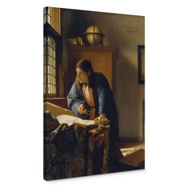 Leinwandbild Vermeer - Der Geograph