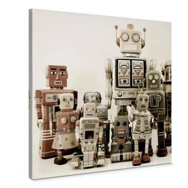 Leinwandbild Versammlung der Roboter