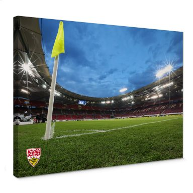 Leinwandbild VfB Stuttgart Arena Nacht
