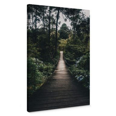 Canvas Print Forest Road