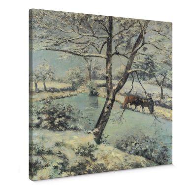 Canvas Camille Pissarro - Winter