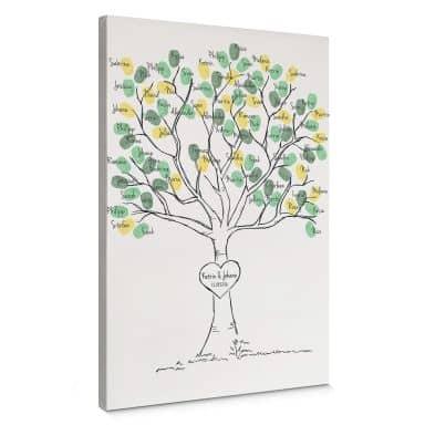 Fingerprint - Tree of Wishes Canvas print