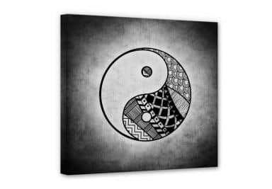 Yin & Yang Canvas print square