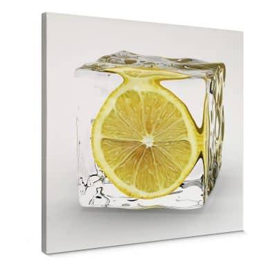 Tableau sur toile - Glaçon au Citron