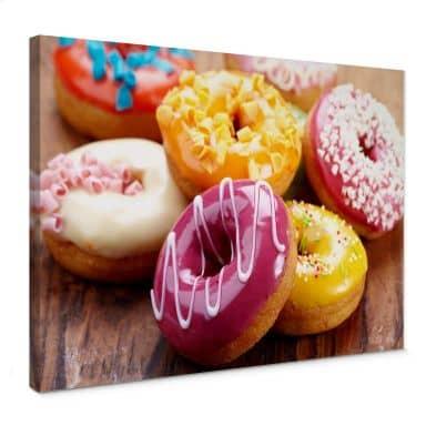 Leinwandbild Zuckersüße Donuts
