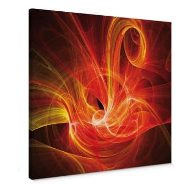 Chaos Ray red Canvas print