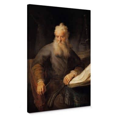 Rembrandt - The apostle Paul Canvas print