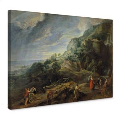Peter Paul Rubens Odysseus on the island Feaci Canvas print