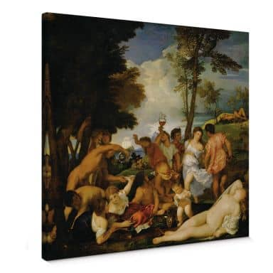 Titian - The Bacchanal of the Andrians Canvas print