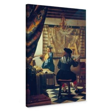 Leinwandbild Vermeer - Die Malkunst