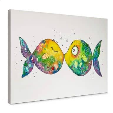 Leinwandbild Hagenmeyer - Verliebte Fische