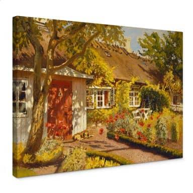 Stampa su tela - Langer - La casetta nel giardino