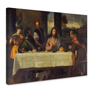 Titian - The Supper at Emmaus Canvas print