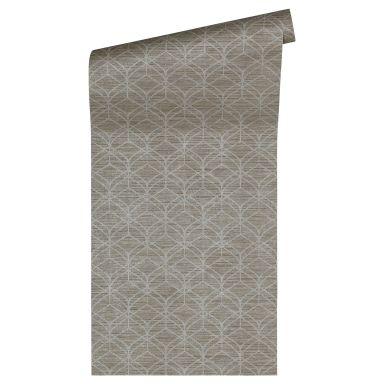 Livingwalls Vliestapete Titanium 3D Tapete geometrische Tapete braun, metallic