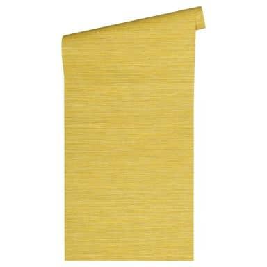Livingwalls Vliestapete Titanium Unitapete einfarbig gelb, metallic