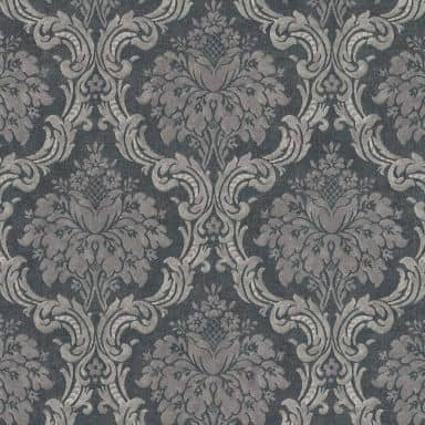 Livingwalls Vliestapete Paradise Garden Barocktapete mit Ornamenten grau, schwarz