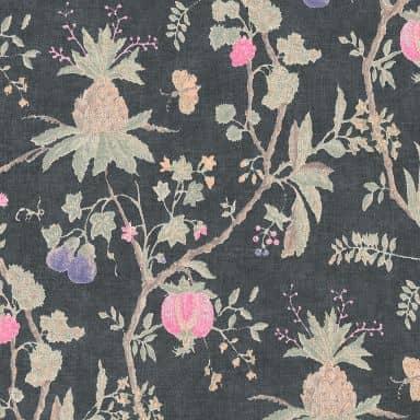 Livingwalls Vliestapete Paradise Garden Blumentapete floral blau, grün, rosa
