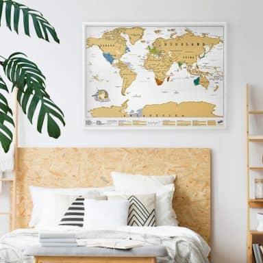 Scratch Map - Weltkarte - deutschsprachige Edition