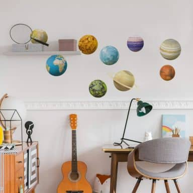 Michel Agullo - Planets Wall Sticker