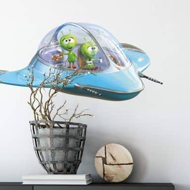 Michel Agullo - Aliens in Spaceship Wall Sticker