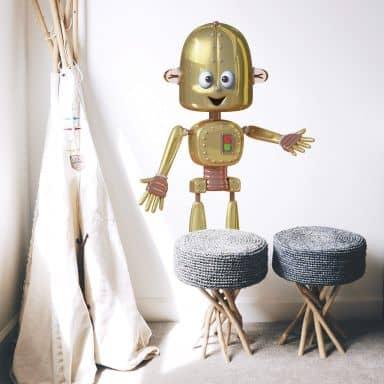 Adesivo murale Michel Agullo - Robot Phill
