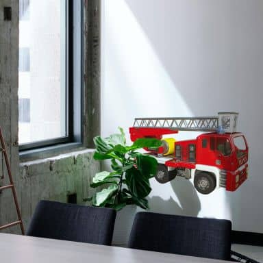Sticker mural Michel Agullo - Camion de pompier