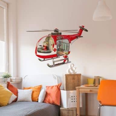 Wandtattoo Michel Agullo - Rettungshelikopter
