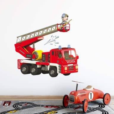 Adesivo murale Michel Agullo - Pompieri in azione