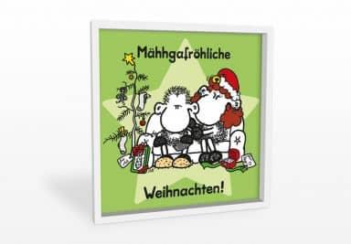 Wandbild sheepworld Mähhgafröhliche Weihnachten!