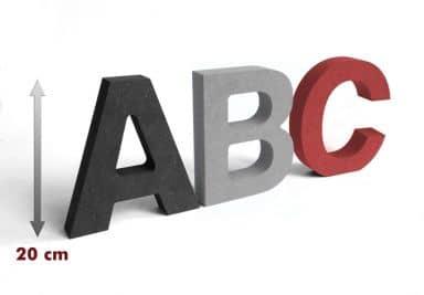 MDF-Holzbuchstaben 20 cm Buchstabenhöhe