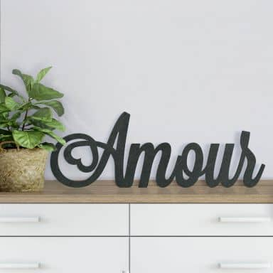 MDF Letters - Amour