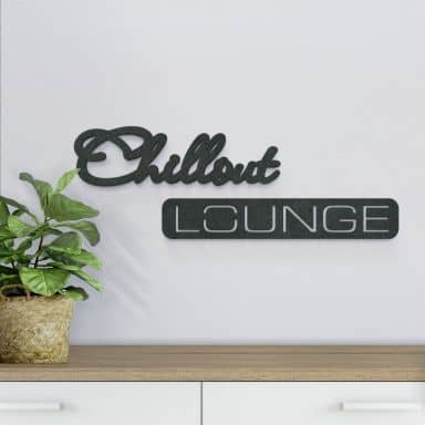 MDF Letters Chillout Lounge