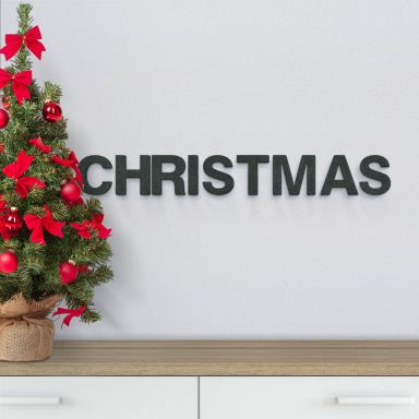 MDF-Letters Christmas